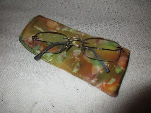 Hand painted silk case for your specs! £6