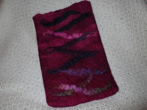 Hand felted Kindle/tablet cover £12